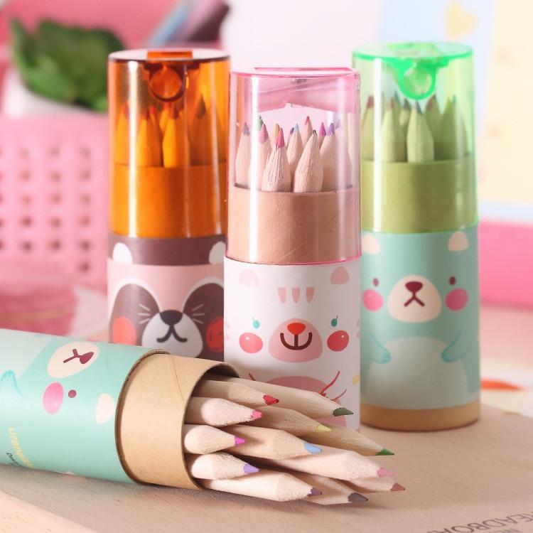 12 Pcs/set Kawaii Color Pencils Drawing Pencil Set Korea Style Kids Pencil Gift For Children Creative Pencils Gift For Kids