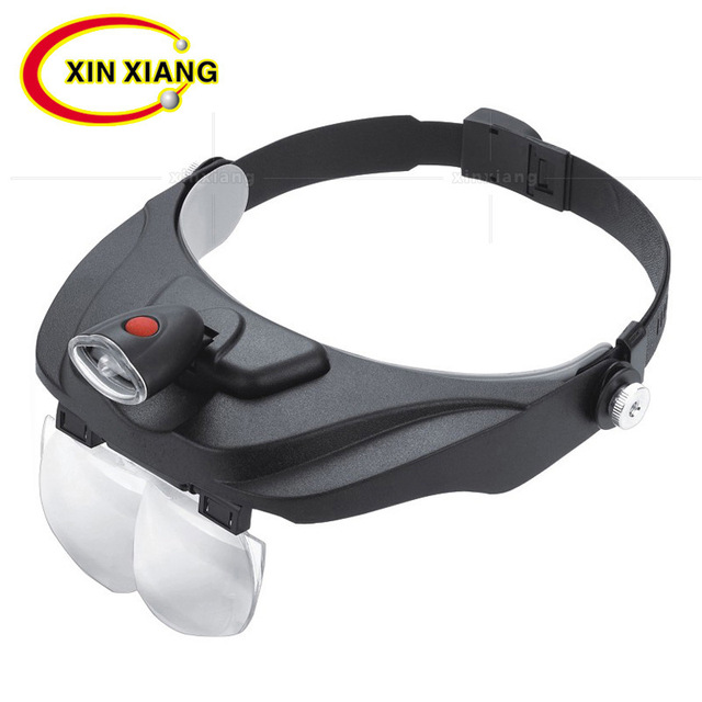 Headband Glasses Magnifier 1.2X 1.8X 2.5X 3.5X led Magnifier Eye Wear Magnifying Glass With LED Jewelry Repair Binocular Loupe