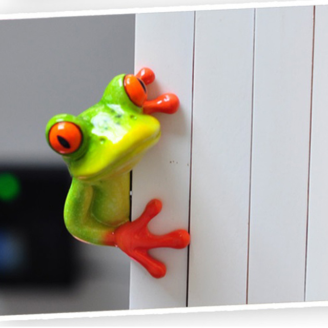 Creative 3D Craft Frog Figurine Decoration Ornament Statue Home Garden Decor Desk Table Shelf Figurines Kids Toys Gift 6