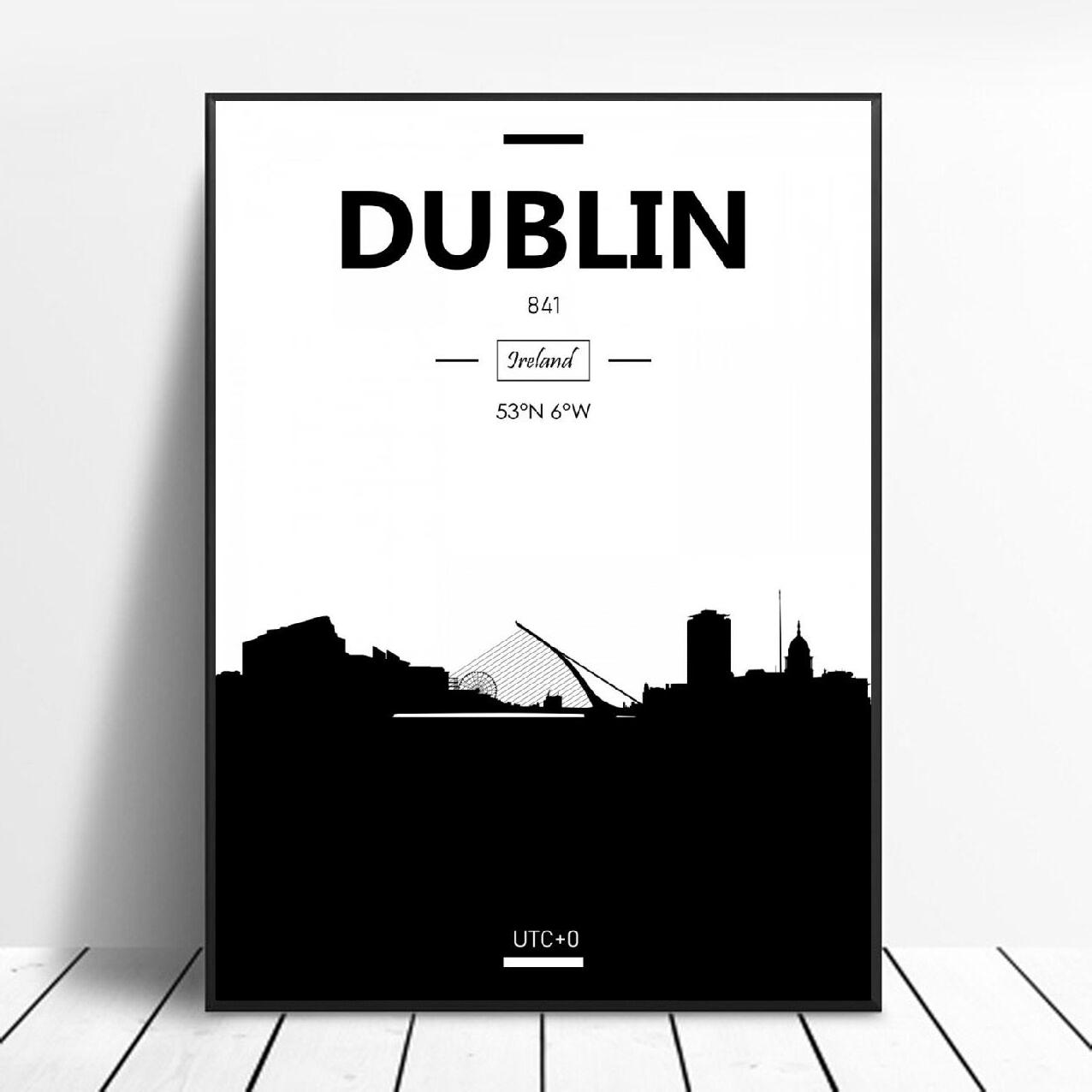 Dublin Art Canvas Poster Home Decoration Painting No Frame