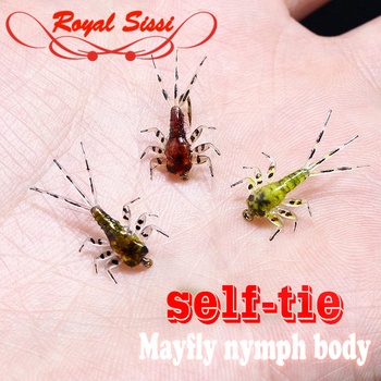 20pcs pack fly tying Mayfly nymph rubber body components with Thin skin fly fishing artificial nymph flies fly tying materials