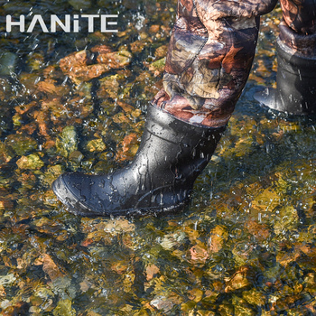 HANITE 5mm Waterproof Thermal  Neoprene Wader with Rubber Boots for Fishing, Hunting, useful in rainy,snowy and flood weather 2