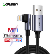 Ugreen USB Cable for iPhone 11 Pro X Xs 2.4A Lightning Fast Charge Data Cable for iPhone 8 7 6 6S 5S Mobile Phone Charger Cable