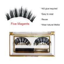 Магнитные накладные ресницы для наращивания, натуральные ресницы для глаз, жидкая подводка для глаз, магнитные накладные ресницы для макияжа