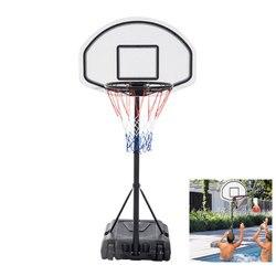28 x 19 Tabellone Regolabile Piscina Canestro Da Basket Sistema Del Basamento Kid A Bordo Piscina Piscina di Acqua Maxium Applicabile Modello di Palla 7 #