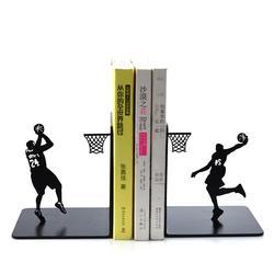 Kreative Metall Buchstützen Buch Halter Bücherregal Stehen Einfache Mode 24 BasketBook Fan Studenten Junge Geburtstag Geschenk Schreibtisch Veranstalter