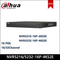 Dahua POE NVR NVR5216 16P 4KS2E NVR5232 16P 4KS2E 16/32Channel 1U 16PoE 4K&H.265 Pro Network Video Recorder