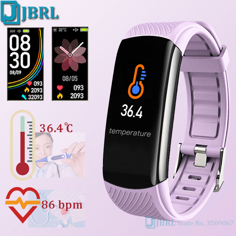 New Digital Watch Kids Body Temperature Wrist Watches Digital Bluetooth Girls Boys Fitness Clock Children Heart Rate Android IOS
