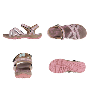 Image 2 - GRITION Beach Sandals Women Summer Outdoor Flat Sandals Ladies Open Toe Shoes 2020 Lightweight Breathable Walking Hiking Sandals