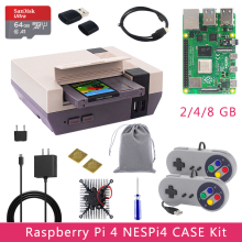 Originele Raspberry Pi 4 NESPi4 Case Kit 2/4/8Gb + 32/64Gb Sd-kaart + Reader + Micro Hdmi Kabel + Gamepads Voor Raspberry Pi 4 Model B