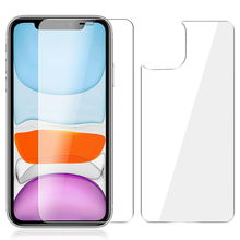 2-in-1 Front Back Screen Protector For iPhone 11 Pro Max 3D