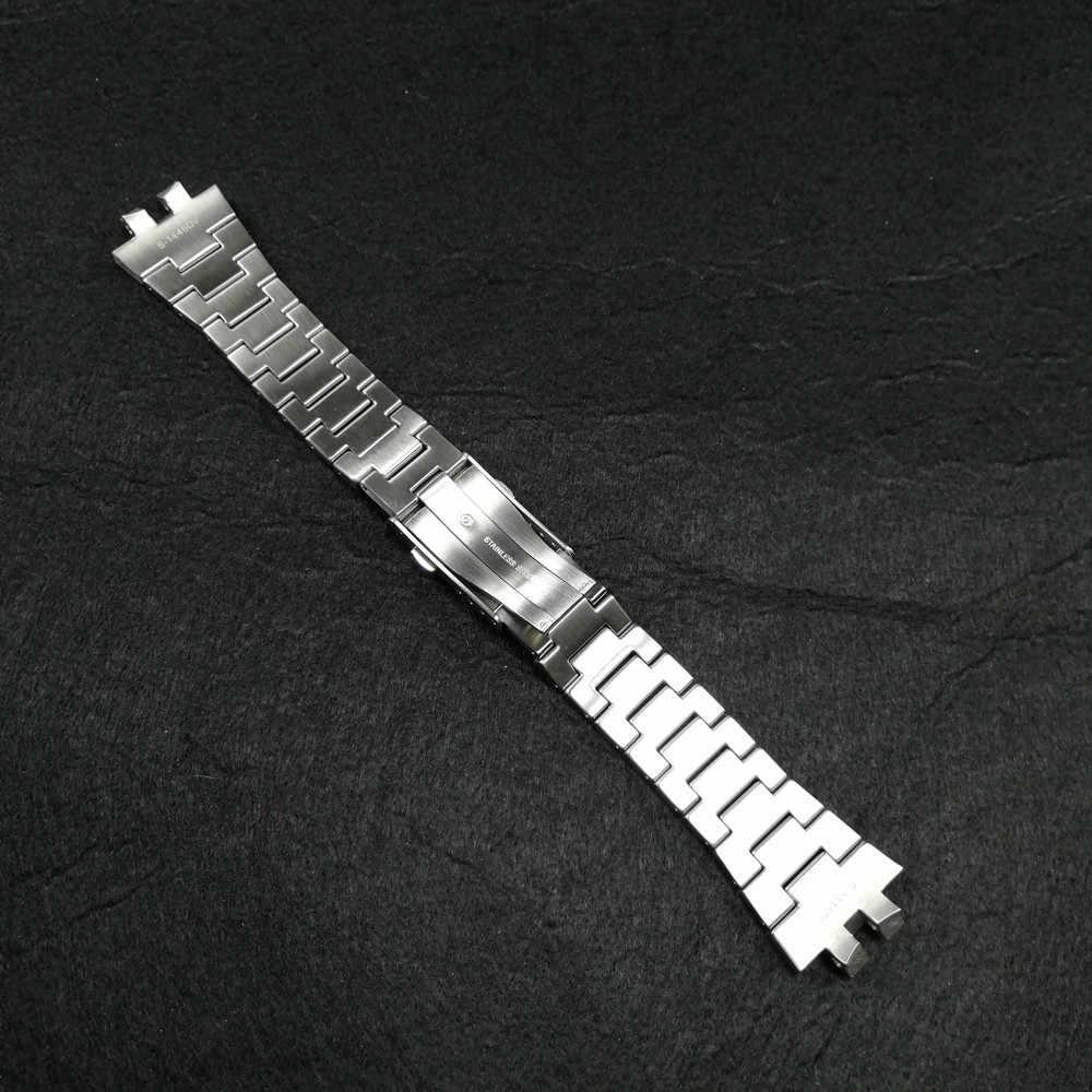 רצועת השעון ולוח עבור GMW-B5000 גבוהה באיכות 316L נירוסטה שעון צמיד ומקרה כיסוי מתכת רצועת פלדת חגורת כלים
