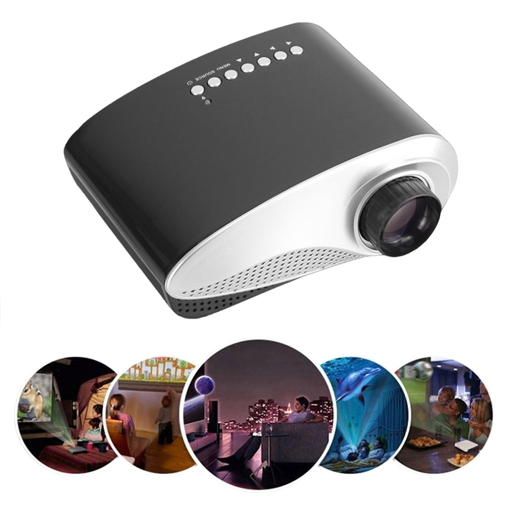 RD802 Tragbare Mini Projektor Heimkino Kino LED LCD Beamer 1080P USB/VGA/HDMI Kind Cartoon Video kino Film proyector-in Projektor-Zubehör aus Verbraucherelektronik bei title=