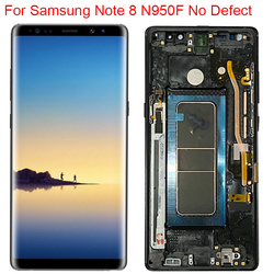 New Original N950F LCD For Samsung Galaxy Note 8 Display With Frame Super AMOLED Note 8 SM-N950A N950U LCD Touch Screen Parts