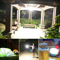 300w solar led camping light usb rechargeable bulb for outdoor tent lamp portable lanterns emergency lights for bbq hiking