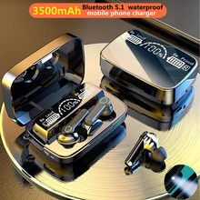 Tws bluetooth 5.1 fones de ouvido 3500mah caixa carregamento sem fio fone 9d estéreo esportes à prova dwaterproof água fones com microfone
