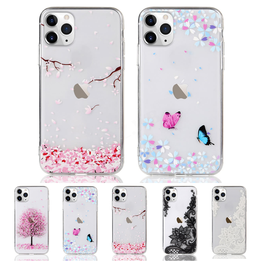 Flower Cute Silicone Soft Phone Cover For iPhone 12 / Mini / Pro / Max
