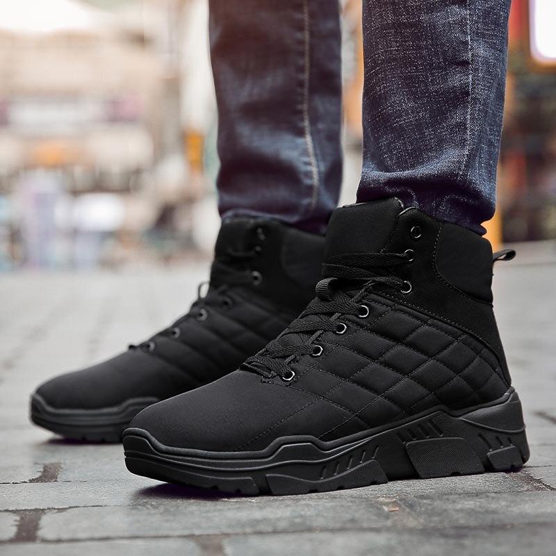 2019 bottes d'hiver hommes cheville neige chaussures imperméable garder au chaud en peluche hommes chaussures d'hiver en plein air anti-dérapant Botas Masculina Hombre