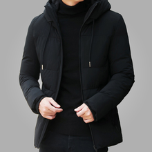 Brand Winter Jacket Men Clothes 2018 Casual Stand Collar Hooded Fashion Coat Parka Outerwear Warm Slim fit 4XL