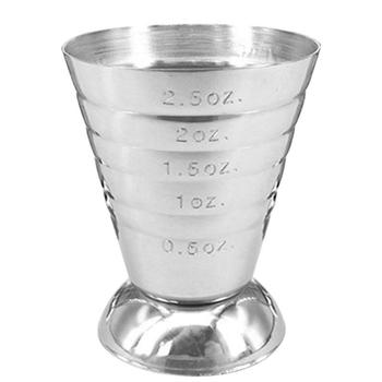 75ml Stainless Steel Measure Cup Cocktail Tool Bar Mixed Drink Jigger Spoon