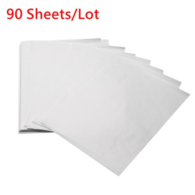 90PCS Translucent Tracing Paper Copy Transfer Printing Drawing Paper Sulfuric Acid Paper For Engineering Drawing Printing27x19cm