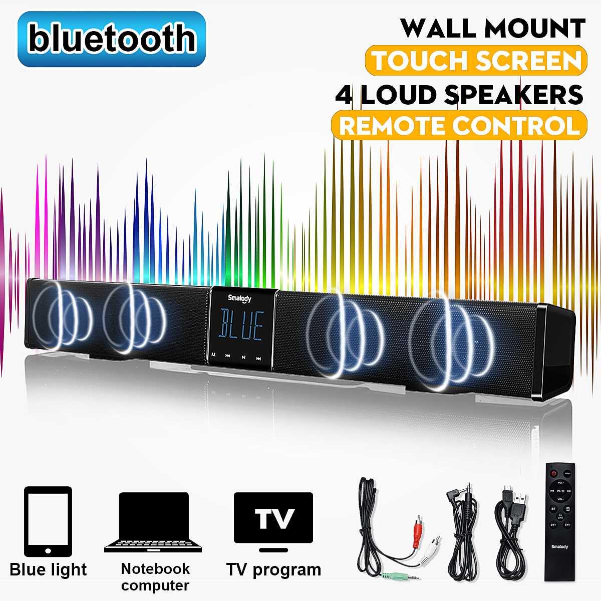 bluetooth Portable LCD FM//AM Radio Stereo Speaker MP3 Music Player Micro SD   !