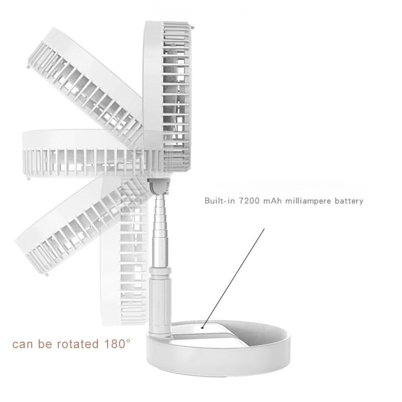 Offre spéciale créative Flexible pliant USB ventilateurs de charge ménage bureau atterrissage Portable silencieux petit ventilateur électrique - 3