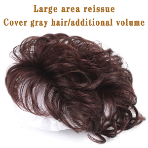 Парик HOUYAN, женские волосы, увеличивающие невидимые и не оставляющие следов человеческие волосы, покрывающие белые волосы, Короткие вьющиеся волосы, пушистый Натуральный Тоник Синтетический цельный на клипсе      АлиЭкспресс