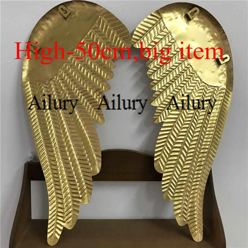 """2 шт., Рождественский золотые мужкая цельнокроенная железа """"крылья ангела"""" подвесные украшения Xmas, домашний подвесного настенного декора."""