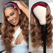 Ciało fala pałąk peruka miód blond malezyjski włosy typu Ombre szal na głowę peruka brązowy Balayage wyróżnij włosów ludzkich peruk dla kobiet