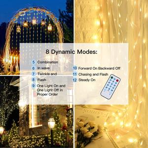 Image 4 - LED garland curtain string lights Remote Control fairy light Home decoration on the window Wedding party light string led decor