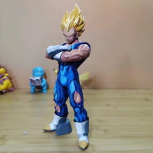 Anime Dragon Ball Z Super Saiyan Vegeta Comic Ver PVC Action Figure Collectible Model doll toy 27cm pvc cartoon comic doll