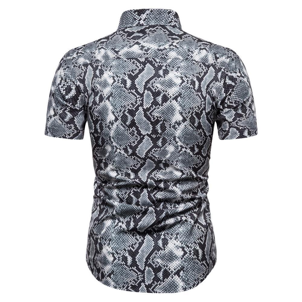 cotton leopard  shirt large size cotton short-sleeved casual young men's shirt 4