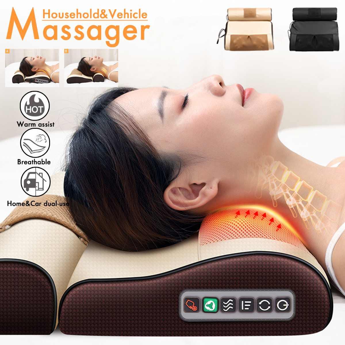 Infrarood Verwarming Nek Schouder Terug Body Elektrische Massage Kussen Shiatsu Massager Apparaat Cervicale Gezonde Massageador Ontspanning|Hals Massage Instrument| - AliExpress