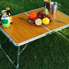 Portable Folding Picnic Table Bamboo Ultralight Waterproof Foldable Hiking Camping Self Driving Travel For Hiking Outdoor