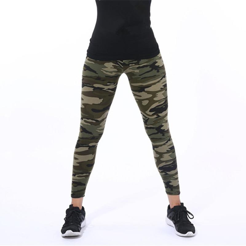 CUHAKCI Women Camouflage Leggings Fitness Military Army Green Leggings Workout Pants Sporter Skinny Adventure Leggins 1