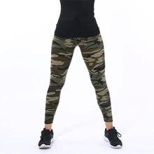 CUHAKCI mujeres camuflaje polainas Fitness militar verde ejército Leggings para hacer ejercicio Sporter Skinny aventura Leggins