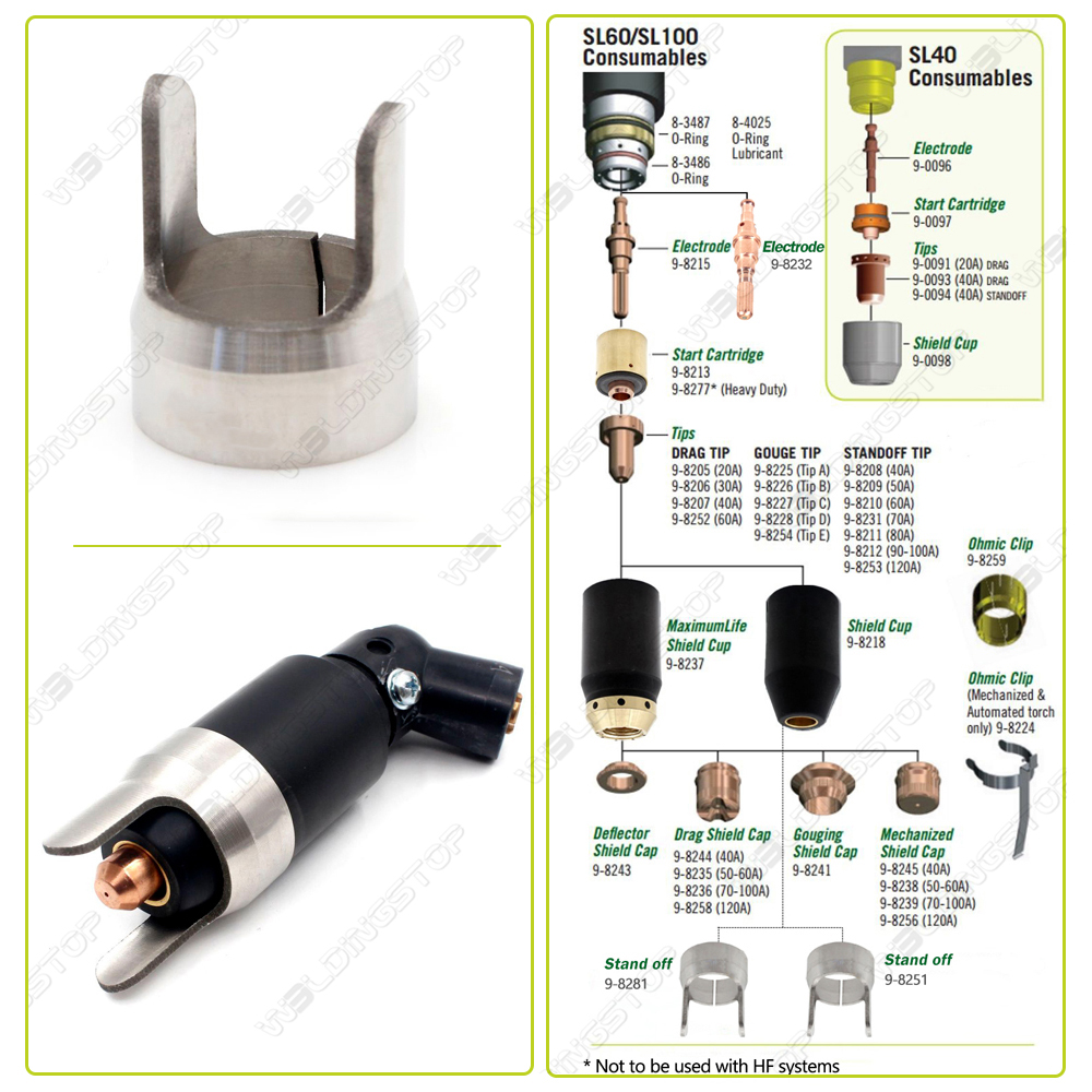 Купить с кэшбэком 9-8281 Standoff spacer guide for thermal dynamic SL60/100 plasma torch WS OEMed