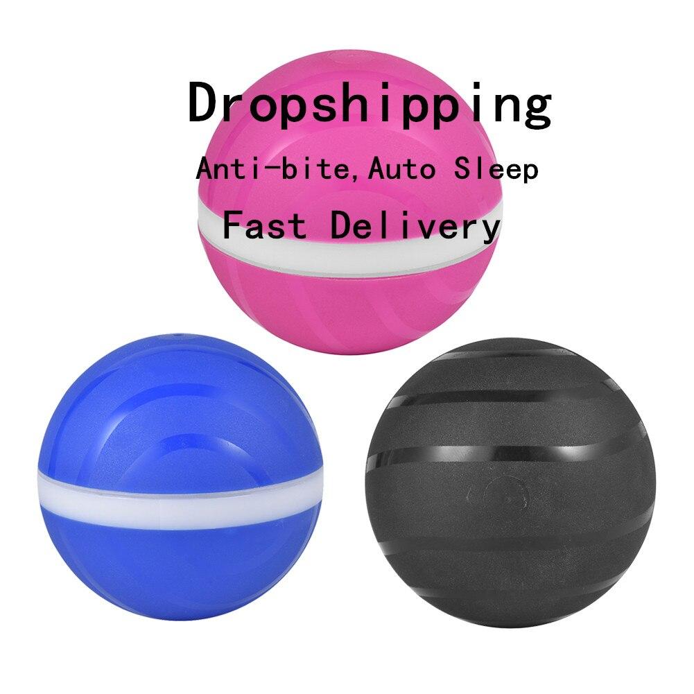 Ímpios à prova d' água para animais de Estimação Brinquedo Bola Mágica Bola Roller Ball Anti-mordida Auto Sono USB Elétrica LED Flash Rolando Bola diversão Para Crianças Cão