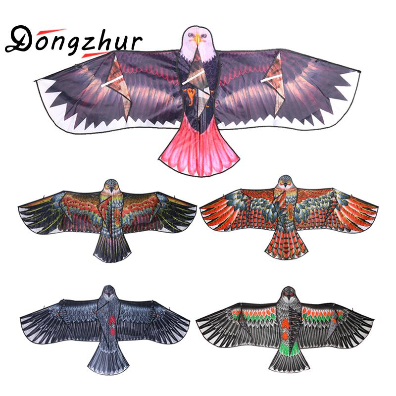 1.1m Flat Eagle Kite Big Fly Bird Kite For Children Flying Bird Kites Windsock Outdoor Toys Garden Cloth Toys For Kids