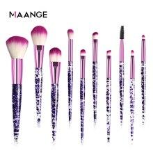 Get more info on the MAANGE Professional Makeup Brush Set 10 Pcs Cosmetic Blush Powder Foundation Eyebrow Eyeshadow Brushes Lip Diamond Make Up Tools
