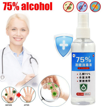 100ml Disinfection Rine-free Hand Sanitizer 75% Alcohol Spray Portable Disposable Prevention Hand Sanitizer