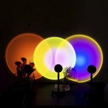 Rainbow Sunset Light Projector Night Lamp LED Atmosphere Night Light Romantic Mood Light Projector for Wall Home Room Decoration