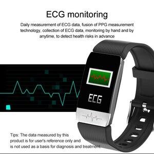Image 2 - T1 ECG Health Monitor Smart Watch Thermometer Temperature Measurement Run Route Track Music Control Sport Smartwatch Men Women