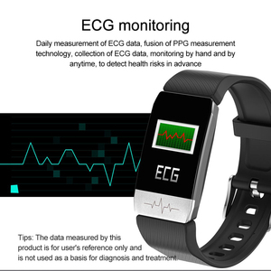 Image 2 - T1 ecg monitor de saúde relógio inteligente termômetro medição temperatura executar rota trilha controle música esporte smartwatch masculino feminino