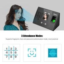 Aibecy ביומטרי טביעת אצבע זמן נוכחות מכונה עם HD תצוגת מסך תמיכה פנים טביעות אצבע סיסמא רב שפה