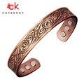 OKtrendy магнитный браслет из чистой меди для женщин, резьба по био энергии, манжета, браслет, мужской, унисекс, Винтаж, регулировка, браслеты, те...