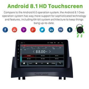 Image 3 - Seicane 2Din Car Radio 9 Inch For Renault Megane 2 2004 2005 2008 Android 9.1 car Multimedia Player GPS Nagationi Head Unit TPMS