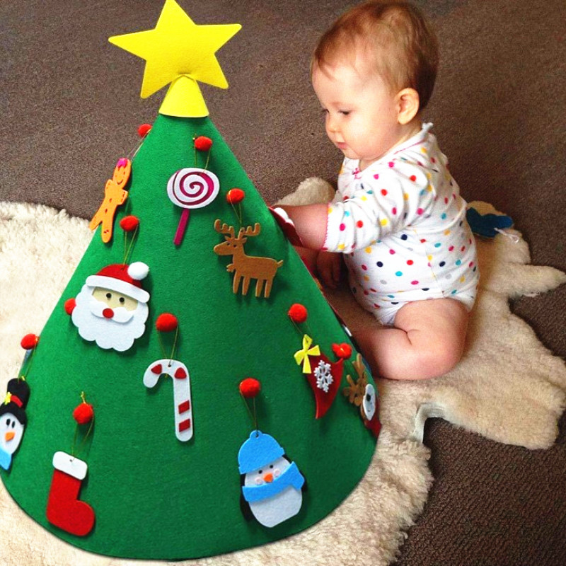 Felt Cloth Decorative Christmas Tree Nonwoven Fabric Gift Felt Christmas Tree Children'S Educational Handmade DIY