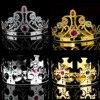 할로윈 파티 공연 머리 장식 로얄 크라운 킹 퀸 골드 보석 성인 할로윈 중세 코스프레 모자 #734